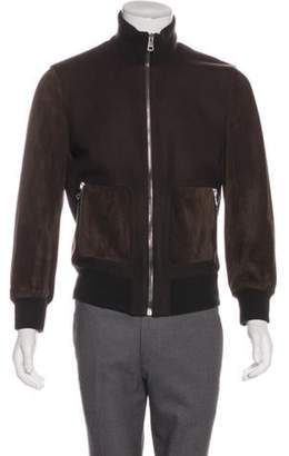 Gucci Suede and Wool Bomber brown Suede and Wool Bomber