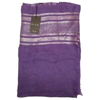 Gucci Purple Linen Scarves