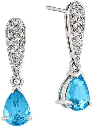 One-Of-A-Kind London Blue Topaz Earrings Bahina labgRiF1iT