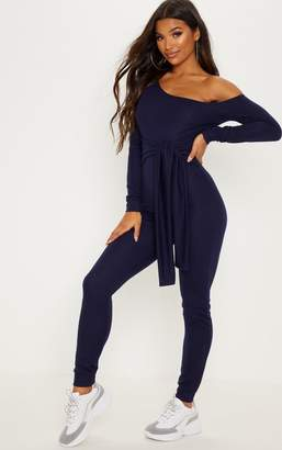 PrettyLittleThing Khaki Sweat Jumpsuit