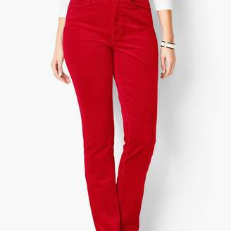 Talbots High-Rise Straight-Leg Pants - Cords/Curvy Fit