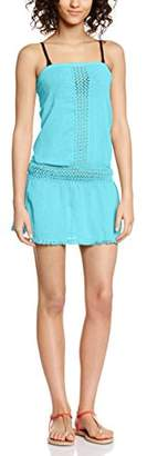 Bananamoon Banana Moon Women's Bustier Plain unicolor Short sleeve Dress - Blue