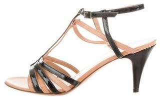 Maison Margiela Patent Leather T-Strap Sandals