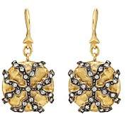 Cathy Waterman Women's Lichen Drop Earrings - Gold