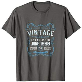 50th Birthday Funny June 1968 Vintage Retro Label T-Shirt