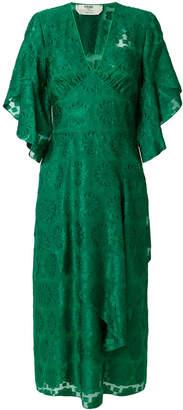 Fendi daisy motif dress