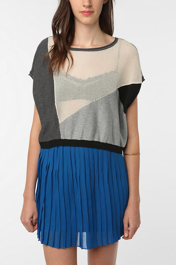 Silence & Noise Mixed Stitch Drop Armhole Sweater