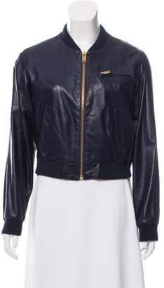 Celine Leather Bomber Jacket