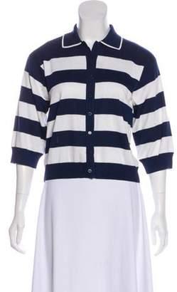 Dolce & Gabbana Silk Knit Top w/ Tags Navy Silk Knit Top w/ Tags