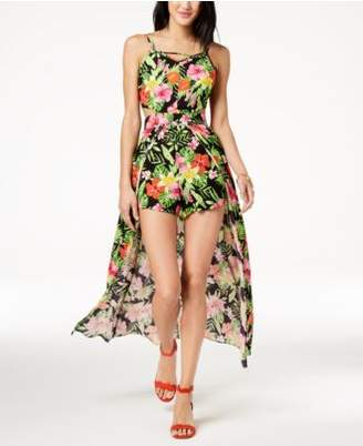 Macy's The Edit By Seventeen Juniors' Printed Maxi Romper, Created for