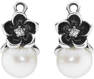 Pandora Mystic Floral Silver Pearl Earring Charms