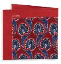 Eton Floral Silk Pocket Square