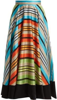 Mary Katrantzou Alice striped organza skirt