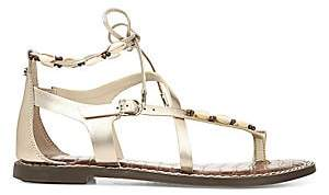 Sam Edelman Women's Garten Leather & Shell Gladiator Sandals