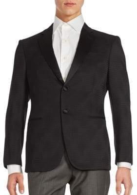 Giorgio Armani Black Dot Jacquard Sportcoat