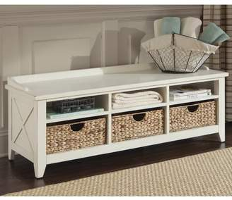 Loon Peak Methuen Wood Storage Bench