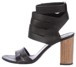 Vince Leather Cutout Sandals