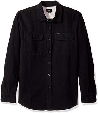 Obey Men's Minor Long Sleeve Woven Shirt