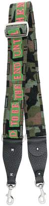 Valentino embroidered camouflage back strap
