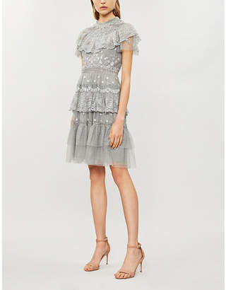 NEEDLE AND THREAD Cinderella floral-embroidered tulle dress