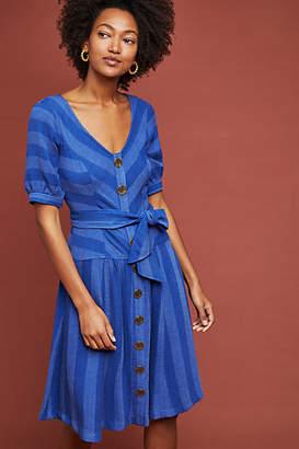 Maeve Tonal Striped Buttondown Dress
