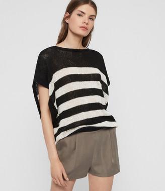 AllSaints Carova Stripe T-Shirt