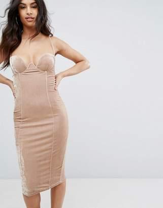 Rare Velvet Cami Strap Midi Dress