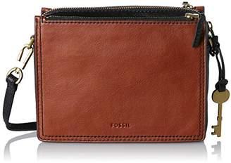 Fossil Campbell, Women's Cross-Body Bag, Braun (), 6.03x15.24x19.69 cm (B x H T)