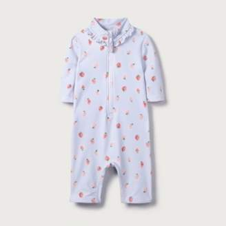 fd0de8378b69a The White Company Strawberry Print Surf Suit (0-24mths)