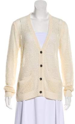 Rag & Bone Long Sleeve Woven Cardigan