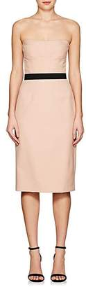 Narciso Rodriguez Women's Belted Virgin Wool Strapless Sheath Dress - Sand