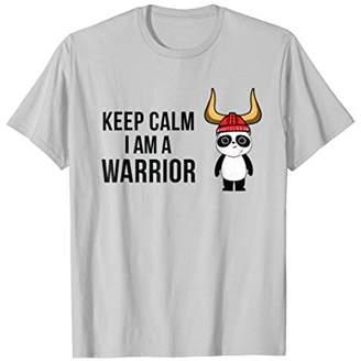 Keep Calm I Am a Warrior Panda Viking t-shirt