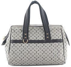 Louis VuittonLouis Vuitton Blue Canvas Mini Lin Josephine GM Satchel Handbag BCL-64 MHL