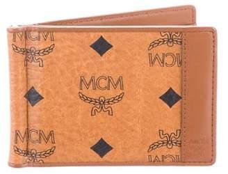 MCM Leather-Trimmed Visetos Wallet