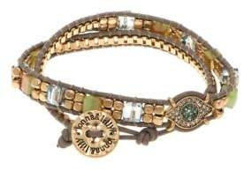 lonna & lilly Crystal and Leather Bracelet