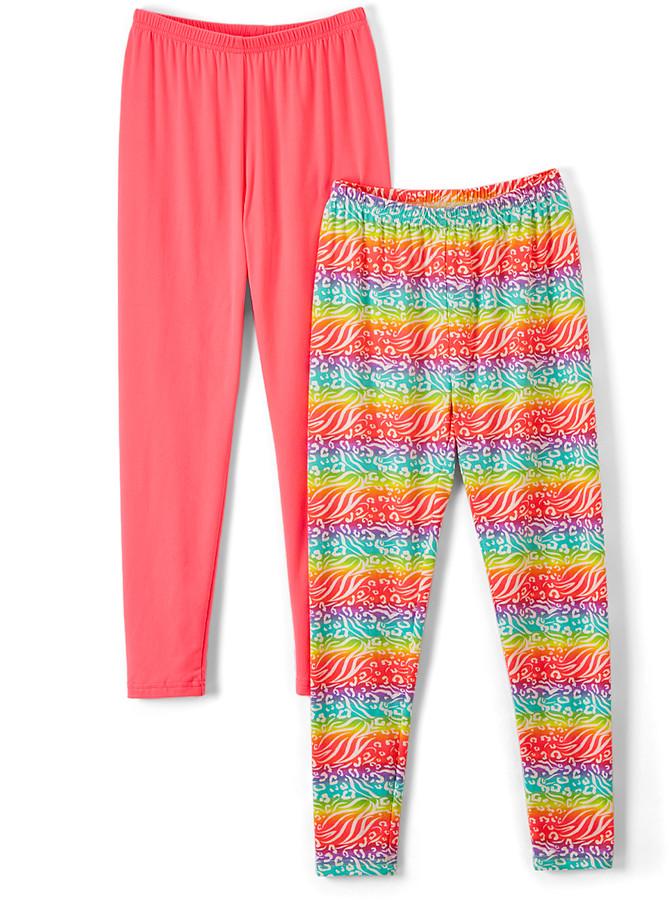 Rainbow Safari Leggings & Neon Pink Leggings - Toddler & Girls