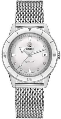 Rado HyperChrome Captain Cook Diamond Mesh Bracelet Watch, 37.3mm