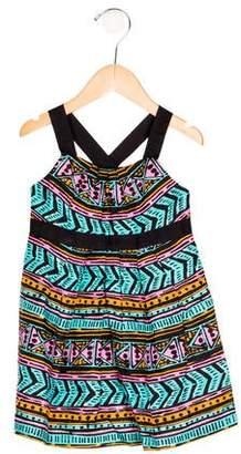 Milly Minis Girls' Geometric Print Sleeveless Dress