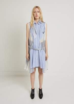 Sacai Stripe Glen Jacket Dress