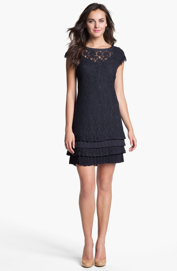 Jessica Simpson Tiered Lace Dress