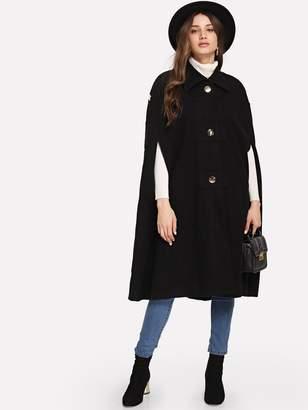 Shein Single Breasted Cloak Coat