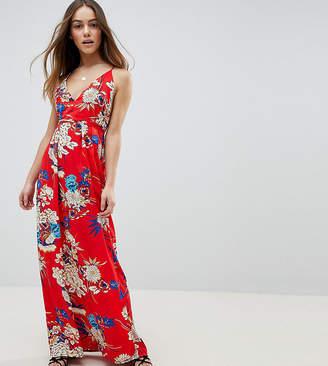 Parisian Petite Floral Print Cami Maxi Dress