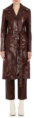 Helmut Lang Women's Distressed Leather Trench Coat