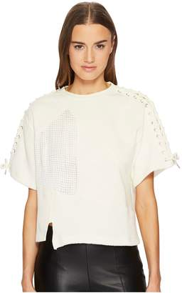 McQ Lace Patched T-Shirt