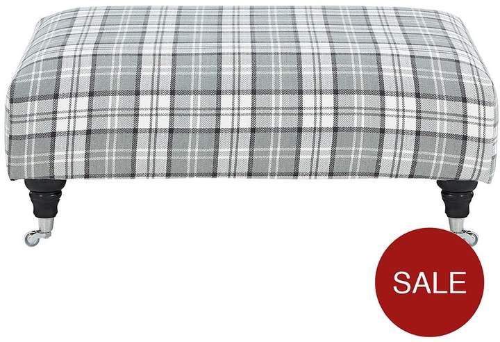 Ideal Home Wallis Fabric Footstool