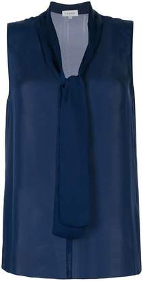 CK Calvin Klein tie neck sleeveless top