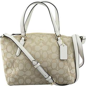 Coach F57830 Outline Signature Mini Kelsey Crossbody Satchel Bag Light Khaki/Chalk