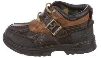 Polo Ralph Lauren Boys' Leather Lace-Up Booties