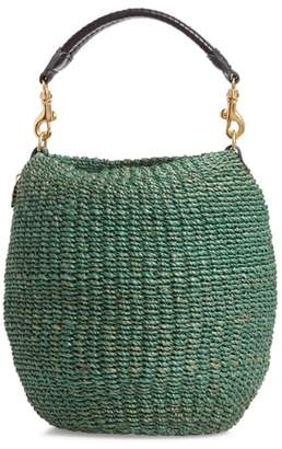 Clare Vivier Pot de Miel Top Handle Straw Basket Bag