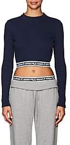 Fila Women's Tracey Rib-Knit Crop Top - Navy